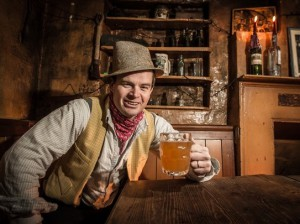 Our 'Adge' enjoys a pint of the good stuff - Western Daily Press 1