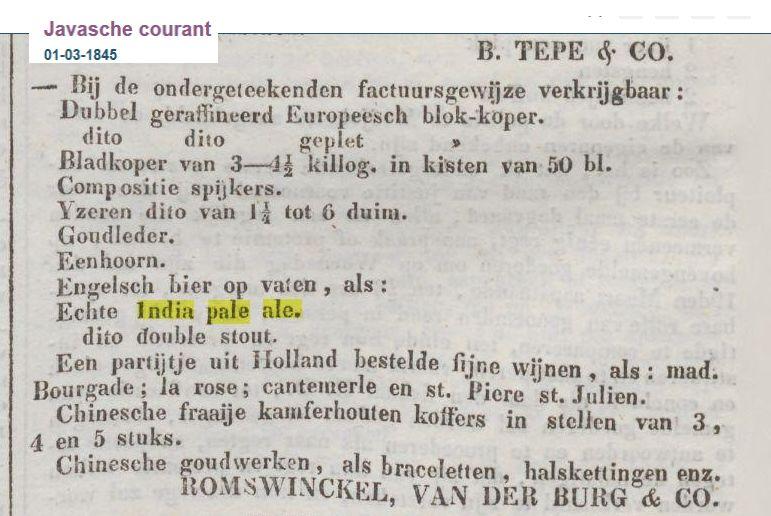 Javasche courant 1-3-1845