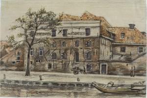 Paul van Alff, Achtergevel van bierbrouwerij 't Scheepje in Haarlem, 1916, Noord-Hollands archief
