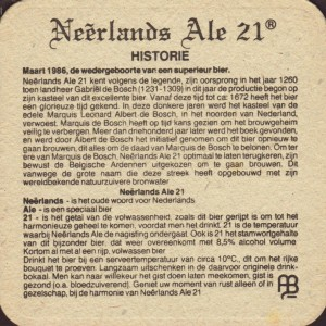Bierviltje Neêrlands Ale, bron: beer-coasters.eu