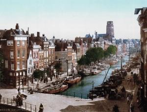 Rotterdam Delftsevaart 1900 uitsnede