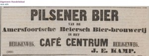 Algemeen Handelsblad 19-1-1879 - First mention of Amersfoorts pilsener (first Dutch pilsener)