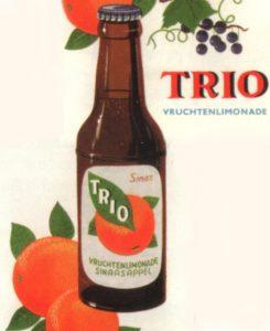 Reclame voor Trio limonade - Uit: Peter Zwaal, Frisdranken in Nederland (bewerkt)