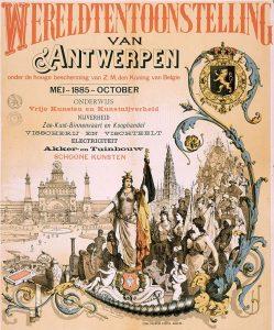 De Wereldtentoonstelling van Antwerpen in 1885: geen van de Namense brouwers maakte nog keute. Bron: Wikipedia