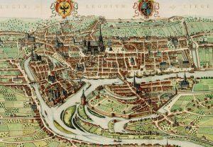 Gezicht op Luik, door Johan Blaeu, 1649. Eind 17e eeuw raakte Luiks bier populair in de noordelijke Nederlanden.