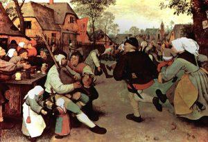 De boeren van Breughel dronken bier, maar geen lambiek. Dat bestond nog niet. Bron: Kunsthistorisches Museum, Wenen.