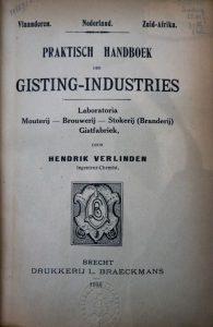 Het 'Praktisch handboek' waarin Hendrik Verlinden het seef-bier beschrijft.