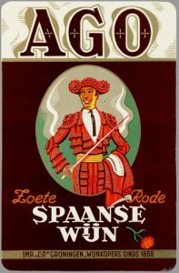 Ago zoete Spaanse wijn - Reclamearsenaal