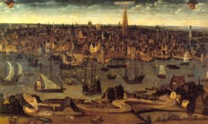 Antwerpen in de 16e eeuw. Bron: MAS Antwerpen.