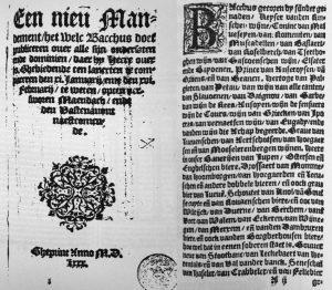 Het Mandement van Bacchus is een boekje van 8 bladzijden.
