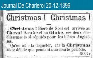 'Christmas!'De oudst bekende vermelding van kerstbier in België.