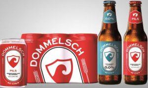 Het nieuwe uiterlijk van Dommelsch in 2018, enigzins lijkend op de oude etiketten van Phoenix in Amersfoort.