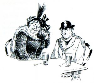 'Mie Tette en haar man Pitje Mugge', Les mémoires de Jef Lambic p. 32.